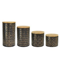 American Atelier Metallic 4-pc. Canister Set