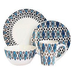 American Atelier Paragon Diamond Metallic 16-pc. Dinnerware Set
