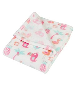 Trend Lab Tropical Pastel Plush Baby Blanket