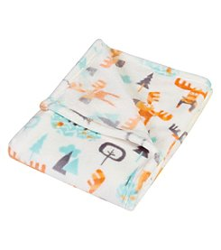 Trend Lab Woodland Moose Plush Baby Blanket