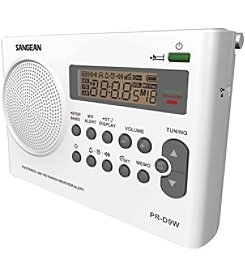 Sangean Portable AM/FM/NOAA Alert Radio With Rechargeable Battery