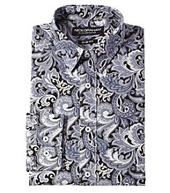 Nick Graham® Men's Regular Fit Paisley Dress Shirt