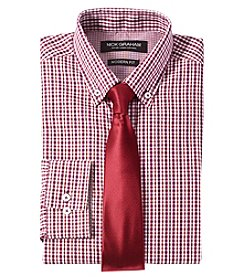 Nick Graham® Multi Check Regular Fit Dress Shirt