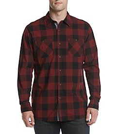 Ruff Hewn Men's Long Sleeve Plaid Work Shirt