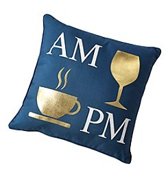 AM And PM Icons Decorative Pillow