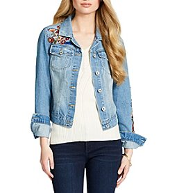 Jessica Simpson Pixie Embroidered Denim Jacket