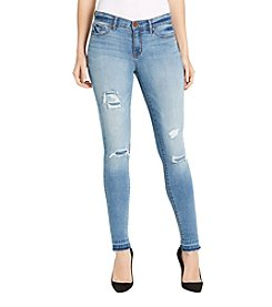 William Rast® Destructed Hem Perfect Skinny Jeans