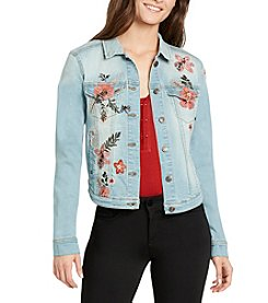 William Rast Sussex Floral Embroidered Denim Jacket