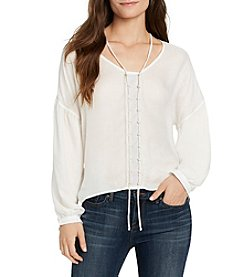 William Rast® James Solid Peasant Top