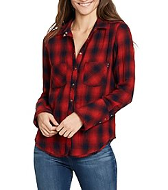 William Rast® Mercer Plaid Top