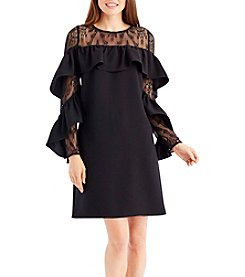 Nicole Miller New York® Lace Yoke Dress