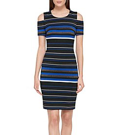 Tommy Hilfiger® Stripe Cold Shoulder Dress