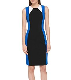 Tommy Hilfiger® Scuba Crepe Colorblock Dress