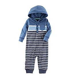 OshKosh B'Gosh® Baby Boys' Hooded Jersey Pocket Romper