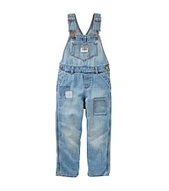 OshKosh B'Gosh® Baby Girls' Patchwork Denim Overalls