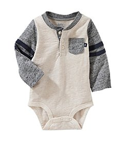 OshKosh B'Gosh® Baby Boys' Varsity Pocket Henley Bodysuit