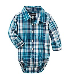 OshKosh B'Gosh® Baby Boys' Plaid Button Front Poplin Bodysuit
