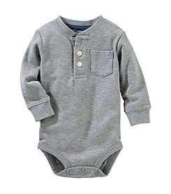 OshKosh B'Gosh® Baby Boys' 6-24 Month Thermal Pocket Henley Bodysuit