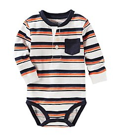 OshKosh B'Gosh® Baby Boys' Striped Pocket Henley Bodysuit