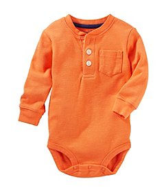 OshKosh B'Gosh® Baby Boys' Thermal Pocket Henley Bodysuit