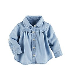 OshKosh B'Gosh® Baby Girls' Button-Front Chambray Shirt
