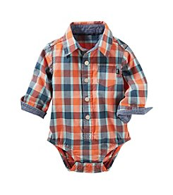 OshKosh B'Gosh® Baby Boys' Plaid Button-Front Poplin Bodysuit