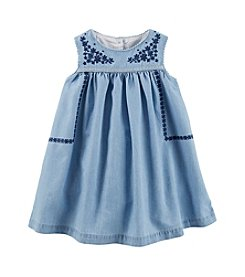 OshKosh B'Gosh® Baby Girls' 2-Piece Embroidered Chambray Dress