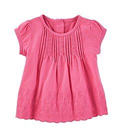 OshKosh B'Gosh® Baby Girls' Pleated Eyelet Jersey Top