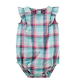 OshKosh B'Gosh® Baby Girls' Plaid Poplin Bodysuit