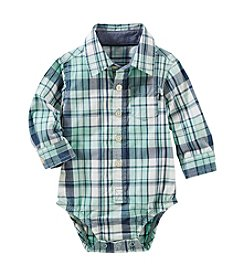 OshKosh B'Gosh® Baby Boy's Plaid Button-Front Poplin Bodysuit