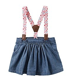 OshKosh B'Gosh® Baby Girls' 2-Piece Floral Suspender Denim Skirt