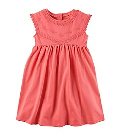 Carter's® Girls' 2T-8 Embroidered Jersey Dress