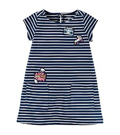 Carter's® Girls' 2T-8 Striped Print Patch Pocket Dress