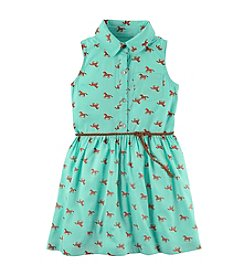 Carter's® Girls' 2T-8 Horse Print Shirt Dress