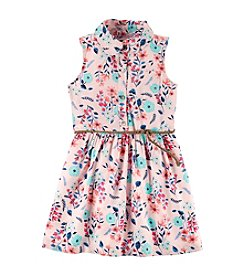 Carter's® Girls' 2T-8 Floral Shirt Dress