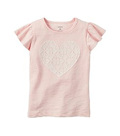 Carter's® Girls' 2T-8 Flutter Sleeve Heart Shirt