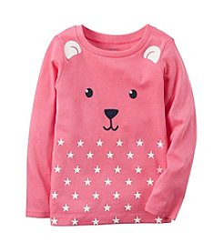 Carter's® Girls' 2T-8 Long Sleeve Bear Graphic Tee