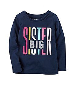 Carter's® Girls' 2T-8 Long Sleeve Big Sister Graphic Tee