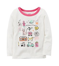 Carter's® Girls' 2T-8 Long Sleeve Favorite Things Graphic Tee