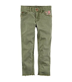 Carter's Girls' 4-8 Embroidered Twill Pants