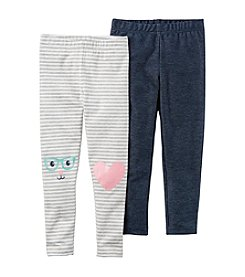Carter's® Girls' 2T-8 2 Pack Leggings