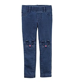 Carter's® Girls' 2T-8 Mouse Character French Terry Jeggings