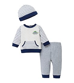 Little Me® Baby Boys' Dashing Dinos Striped Mix Cotton Pants Set