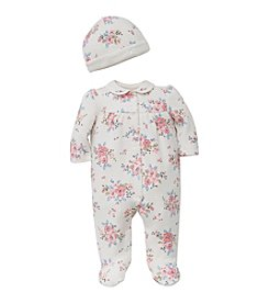 Little Me® Baby Girls' Footie And Hat Set