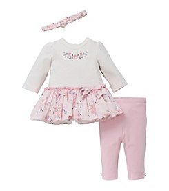 Little Me® Baby Girls' Cotton Dress And Leggings Set