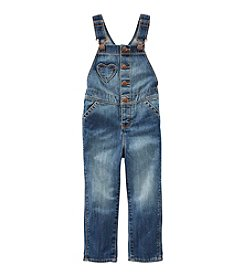 OshKosh B'Gosh® Girls' 2T-6X Heart Pocket Overalls