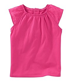 OshKosh B'Gosh® Girls' 2T-6X Eyelet Sleeveless Knit Top