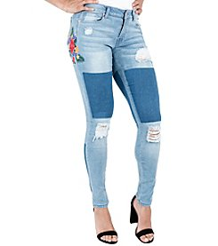 Poetic Justice® Madison Embroidered Patch Jeans