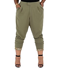 Poetic Justice® Plus Size Colleen Pleated Skinny Pants