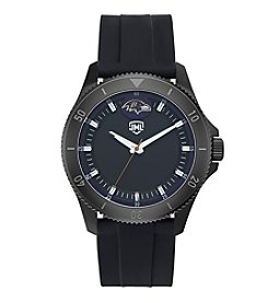 Jack Mason NFL® Baltimore Ravens Men's Blackout Silicone Watch